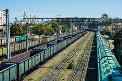 Odessa port railway infrastructure Stock Photos