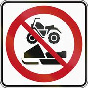 No Snowmobiles And ATVs in Canada Stock Illustration