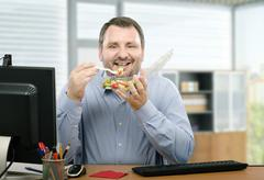 Healthy eating man - stock photo