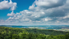 Idyllic summer aerial landscape timelapse Stock Footage
