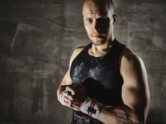 Stock Photo of Portrait, athletic man