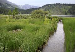 Beautiful landscape fifth Karakol lakes Stock Photos