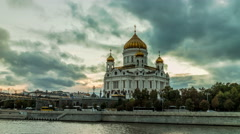 Moscow - Russia. Christ Savior Cathedral Stock Footage