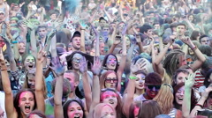 Festival of colors Holi Stock Footage