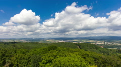 Idyllic summer aerial landscape Stock Footage