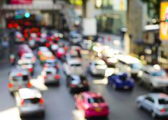 Cars in rush hour - stock photo