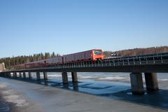 Public transportation in Finland - stock photo