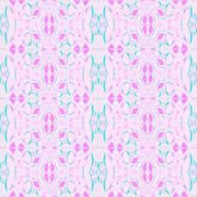 Seamless ellipses pattern pink violet turquoise - stock illustration