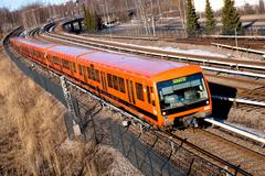 Public transportation in Finland Stock Photos