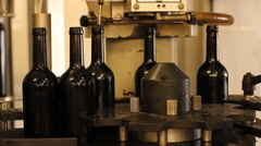 Wine production line Stock Footage