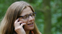 Telephone conversation during the break Stock Footage