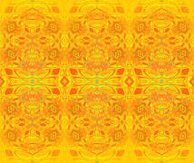 Seamless ornaments yellow orange green Stock Illustration