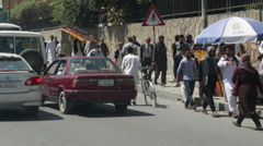AFGHANISTAN KABUL STREET TRAFFIC Stock Footage