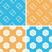 Film strip pattern set, colored - stock illustration