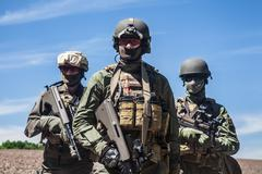 Jagdkommando soldiers special forces Stock Photos
