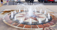 Town fountain in Krasnodar Stock Footage
