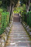 Stairs in Tivoli, Lazio, Italy - stock photo