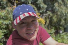 Mixed race man smiling outdoors Stock Photos