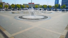 City center fountain in Krasnodar Stock Footage