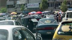 AFGHANISTAN KABUL STREET TRAFFIC Stock Footage