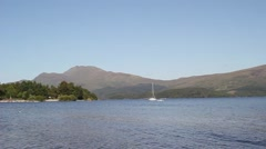 Loch Lomond in Luss, Scotland, UK, HD footage Stock Footage