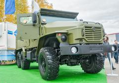 Armored truck of increased passability URAL-4320 - stock photo