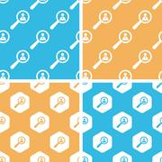 Stock Illustration of User details pattern set, colored