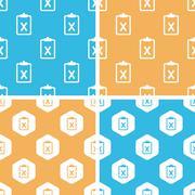 Negative result pattern set, colored Stock Illustration