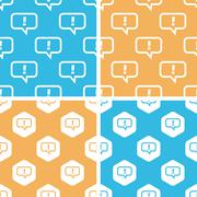 Answer message pattern set, colored - stock illustration