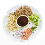 Leaf-Wrapped Bite-Size Appetizer (Miang Kham) Stock Photos
