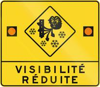 Reduced Visibility in Canada - stock illustration