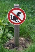 Prohibition sign no dog pooping Stock Photos