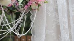 Wedding Accessories, Decor, Photo Zone - stock footage