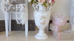 Wedding Accessories, Flower Bouquets - stock footage