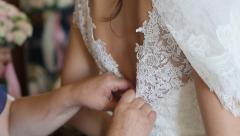 Dress Wedding Dress - stock footage