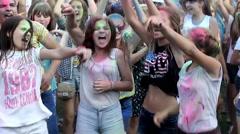 Festival of colors Holi Stock Footage