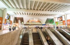PARIS - JUNE 10, 2014: Interior of subway station. Metro trains are the prefe Kuvituskuvat