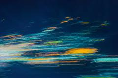 Colorful abstract lights of  blurred by motion Stock Photos