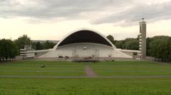 Estonia folk festival stadium Stock Footage