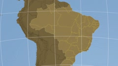 Amazonas - Brazil  extruded. Set of animations. - stock footage