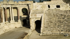 Video of theater at Beit She'an shot in Israel. Stock Footage