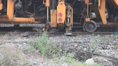 Railway Plasser and Theurer process Stock Footage