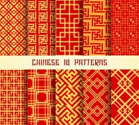 Chinese Pattern set - stock illustration