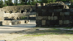 Video of ruined walls at Beit She'an shot in Israel. Stock Footage