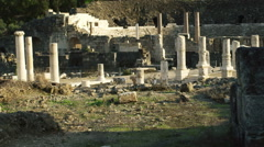 Video of ruins at Beit She'an shot in Israel. Stock Footage