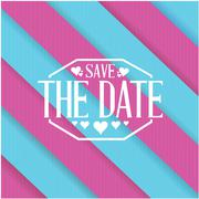 Stock Illustration of save the date purple and blue lines background