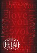 Stock Illustration of save the date I love you texture background sign