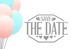 Stock Illustration of save the date balloons sign illustration design