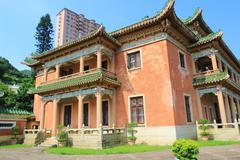 A heritage buildings of King Yin Lane Stock Photos