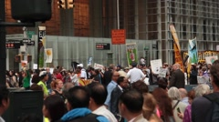 Protest for Global Warming In NYC Stock Footage